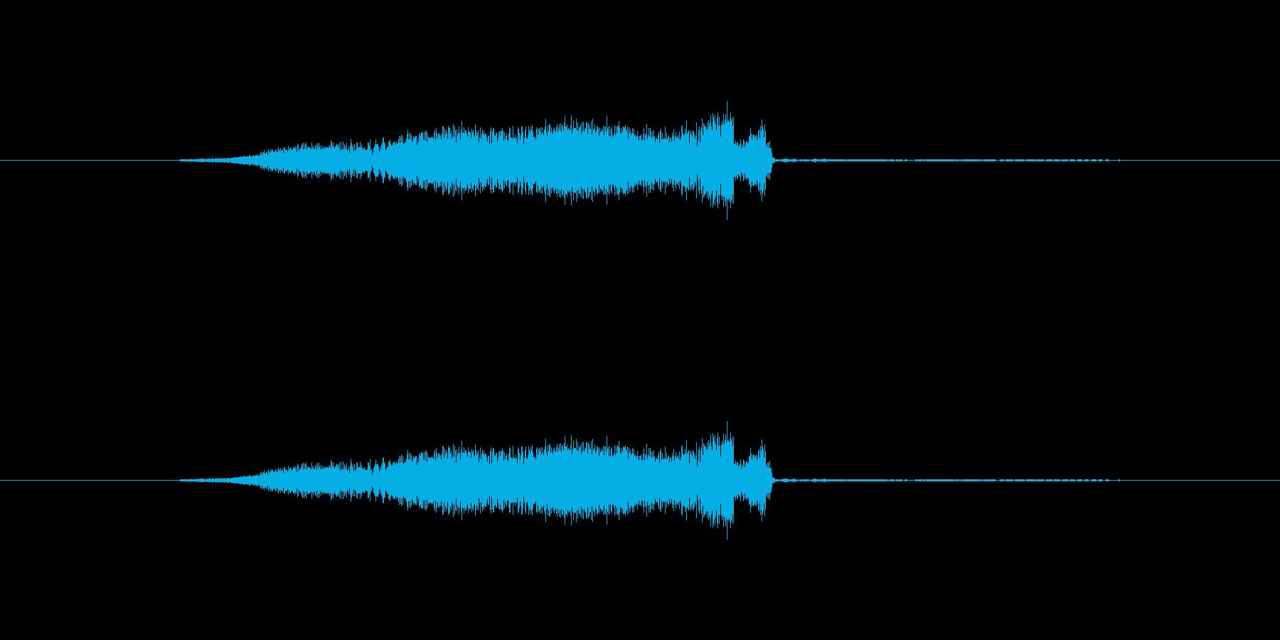 特撮 スイープを確認01の再生済みの波形