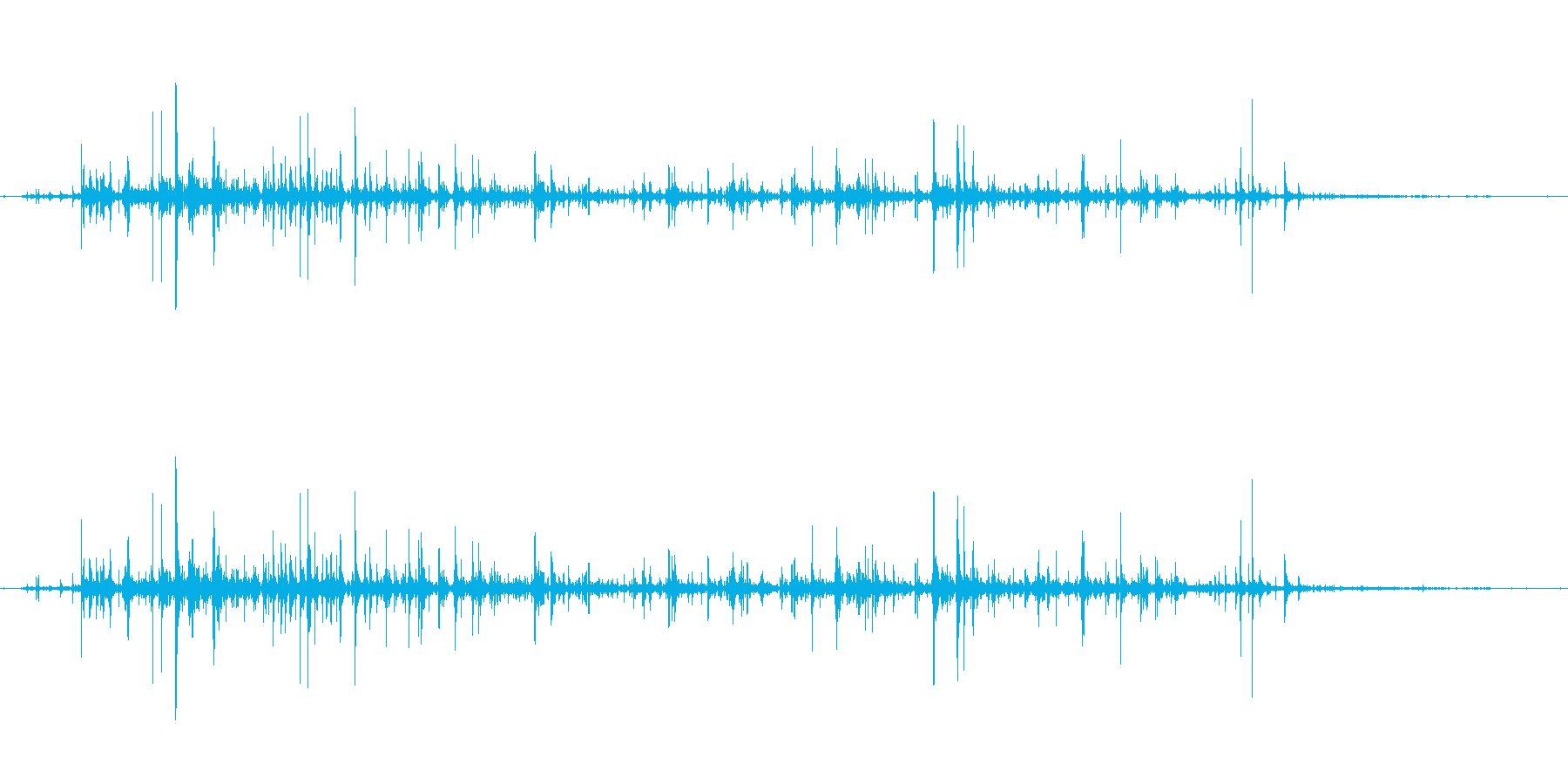 ASMR 熱いお湯をコップに注ぐ音の再生済みの波形