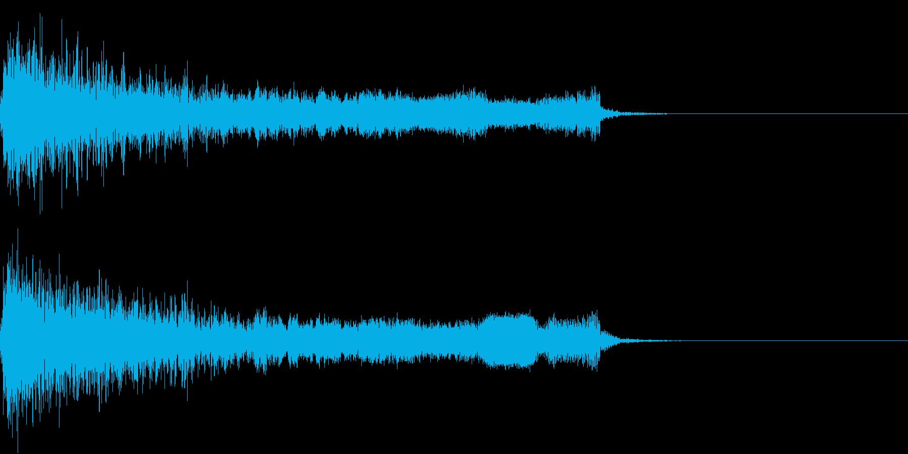 衝撃 ギター インパクト ノイズ 05の再生済みの波形