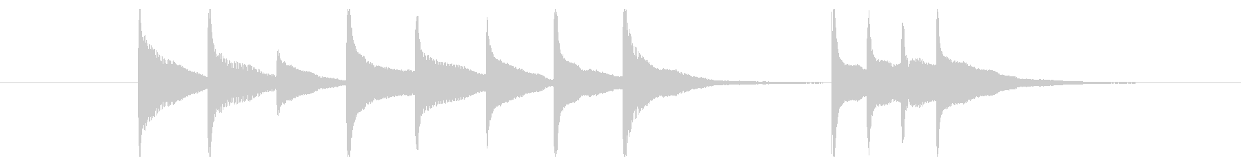 マリンバ・シロフォンショートジングルAの未再生の波形