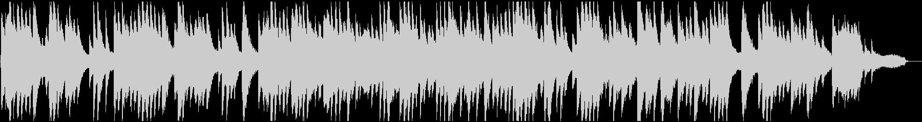 明るい雰囲気のピアノソロバラードの未再生の波形