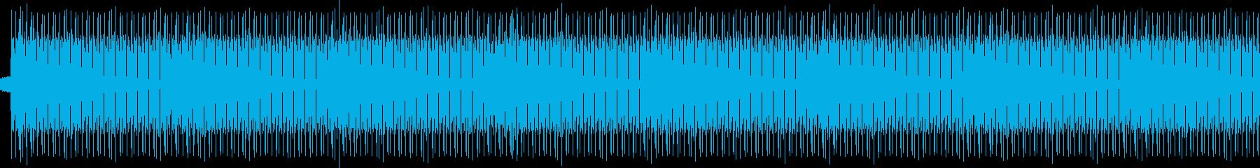 裏露地的なビートの再生済みの波形