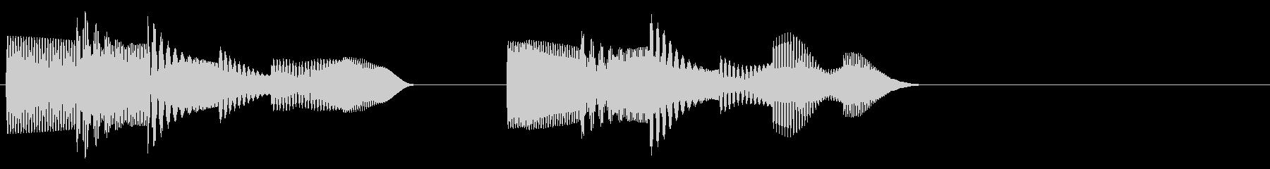 KANTアイキャッチソフト電子音3の未再生の波形