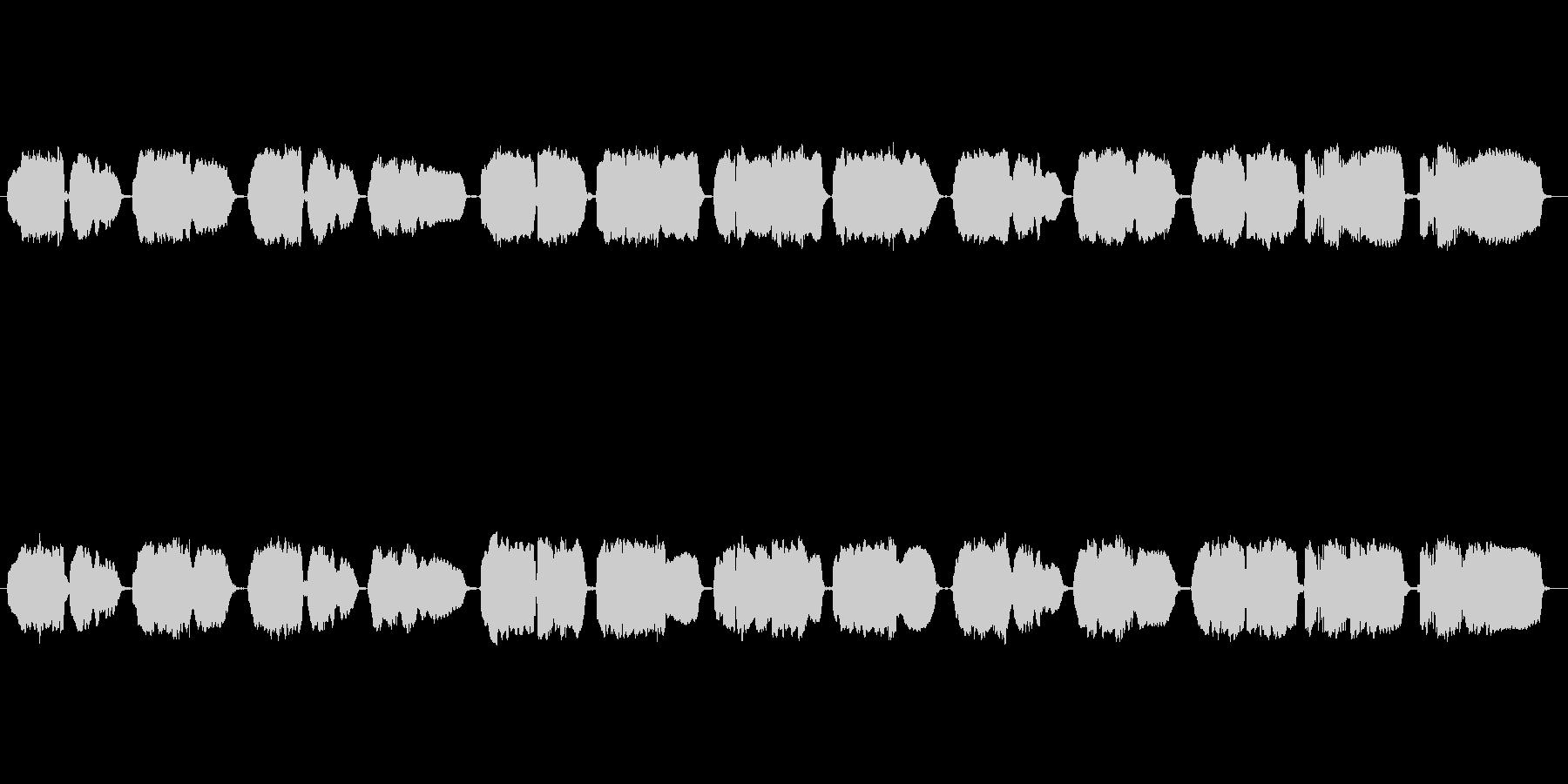 「家路」の篠笛独奏の未再生の波形