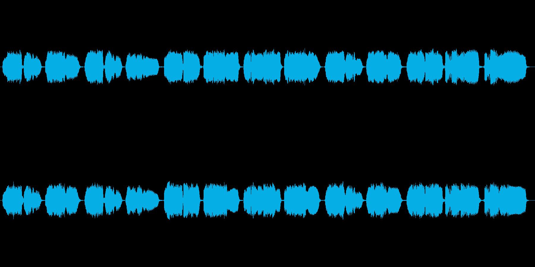 「家路」の篠笛独奏の再生済みの波形