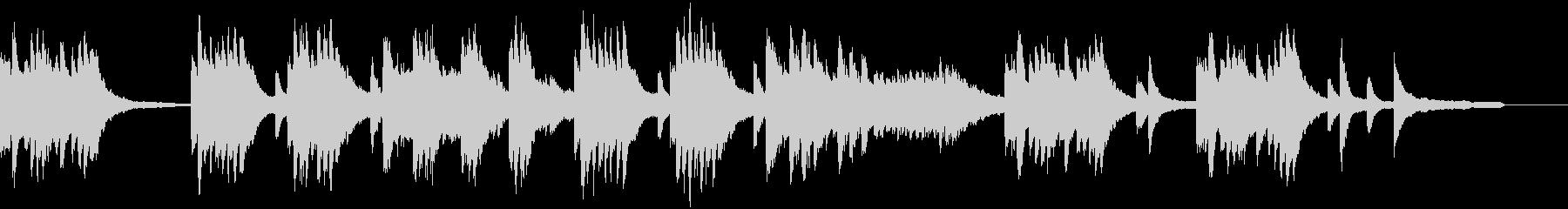 涼しげなピアノソロの未再生の波形
