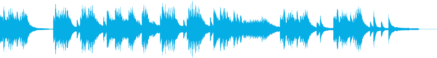 涼しげなピアノソロの再生済みの波形