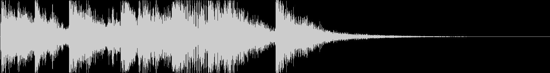 マリンバを使用したコミカルなジングルの未再生の波形