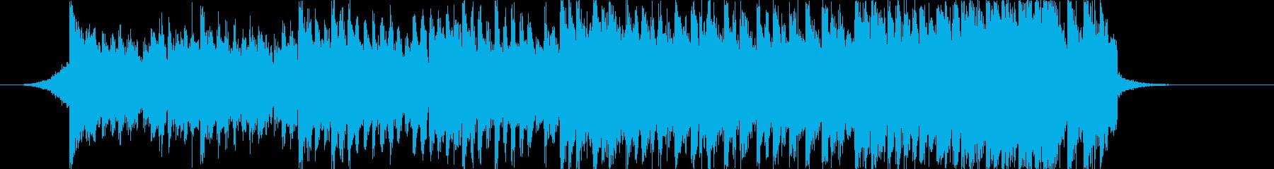 ポップなチップチューンなジングルの再生済みの波形
