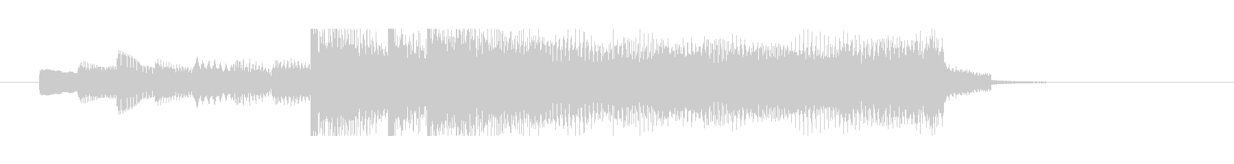 渋谷系サウンド 余韻あるジングルの未再生の波形