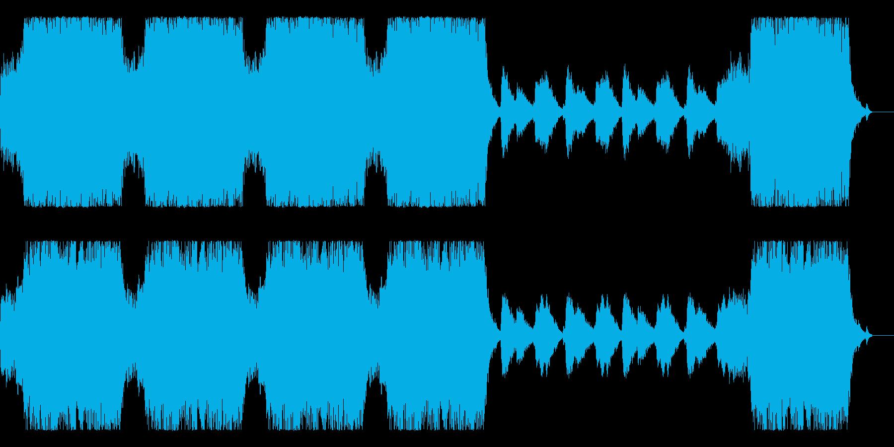 アクションビデオゲームキューのビル...の再生済みの波形