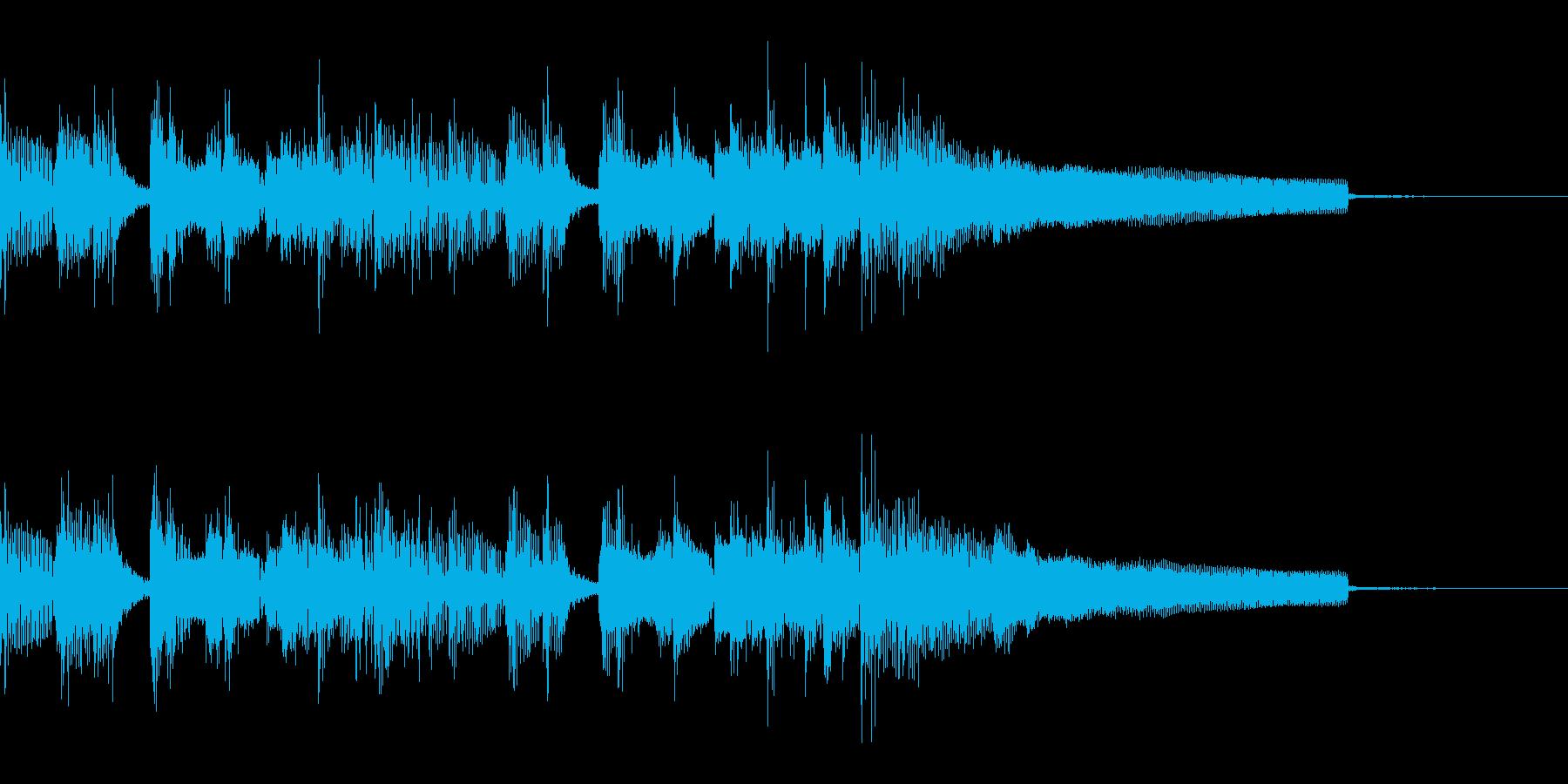 ジャズ風のおしゃれなラジオ向けジングルの再生済みの波形