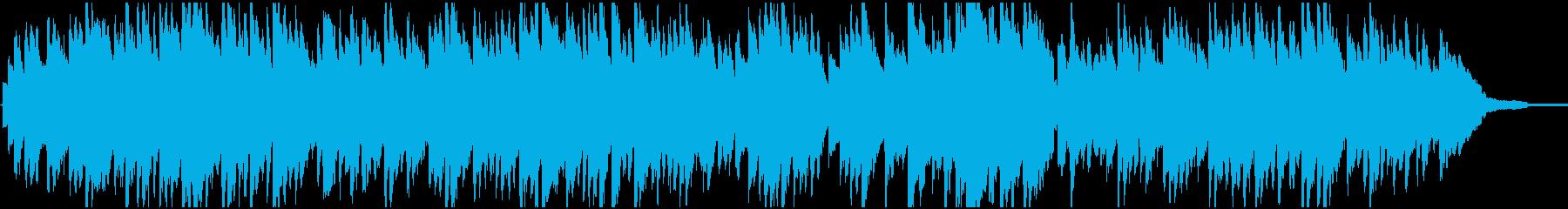 穏やかでゆっくりとしたサウンドの再生済みの波形