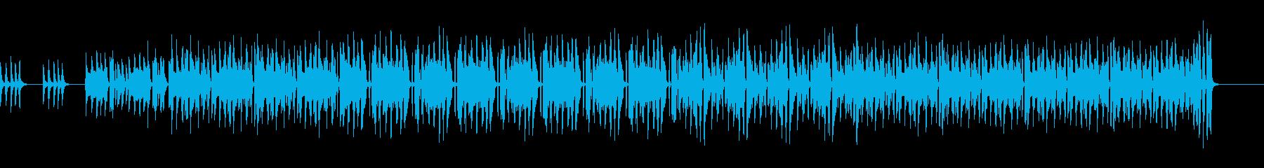 スッキリ爽やかな朝っぽいピアノ曲の再生済みの波形