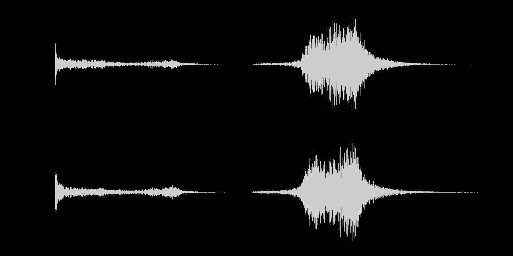 剣がこすれる音2の未再生の波形