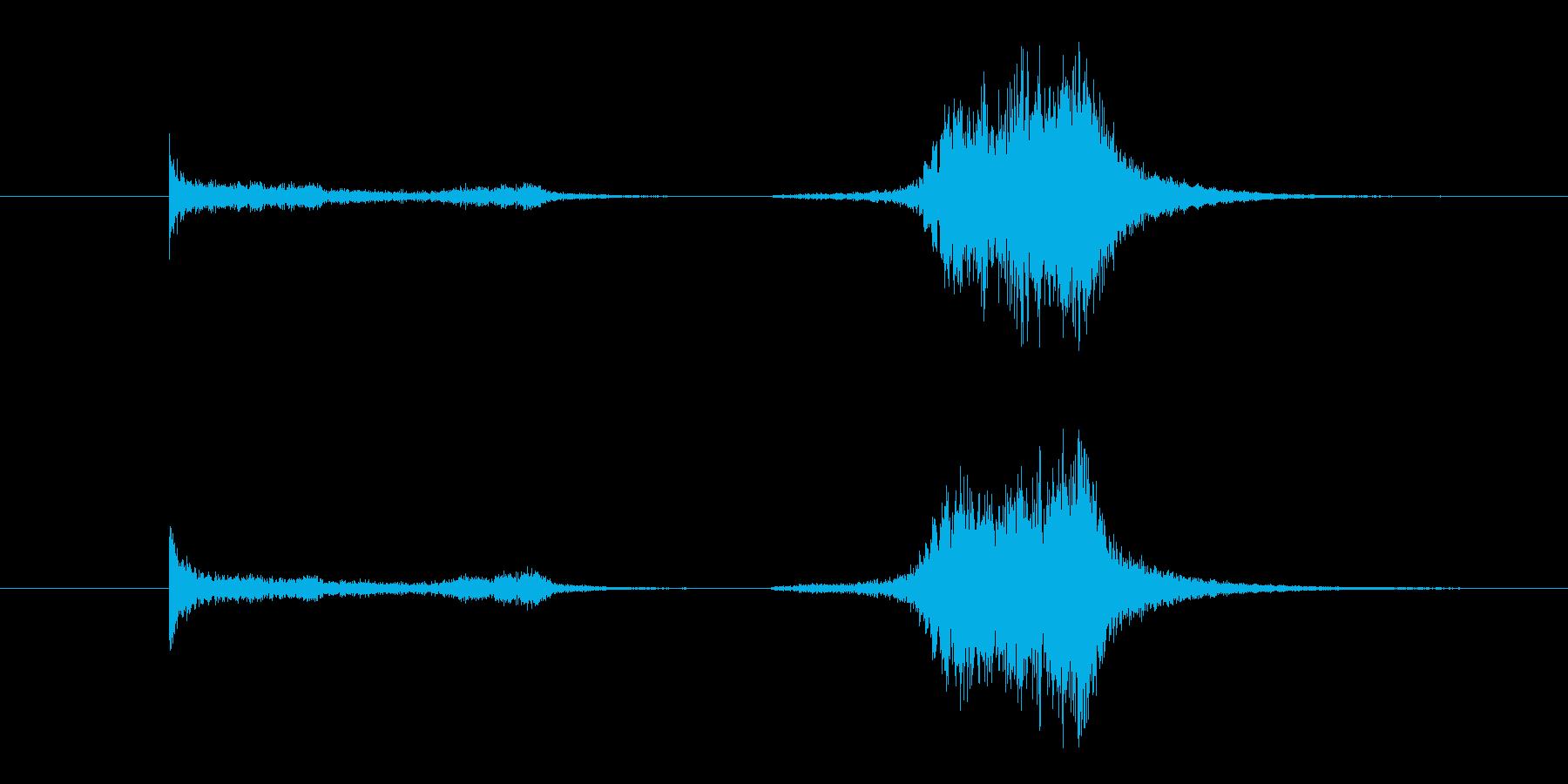剣がこすれる音2の再生済みの波形