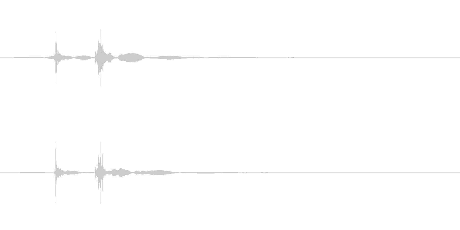 ベチャ(水分を含むものが落下)の未再生の波形