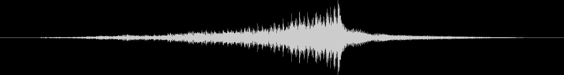 ティンパニ:ロールA、クレッシェンドの未再生の波形