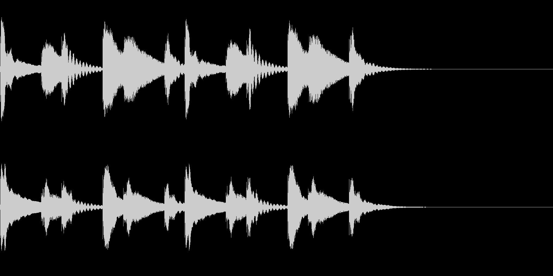 シロフォン(木琴)の迷うようなジングルの未再生の波形