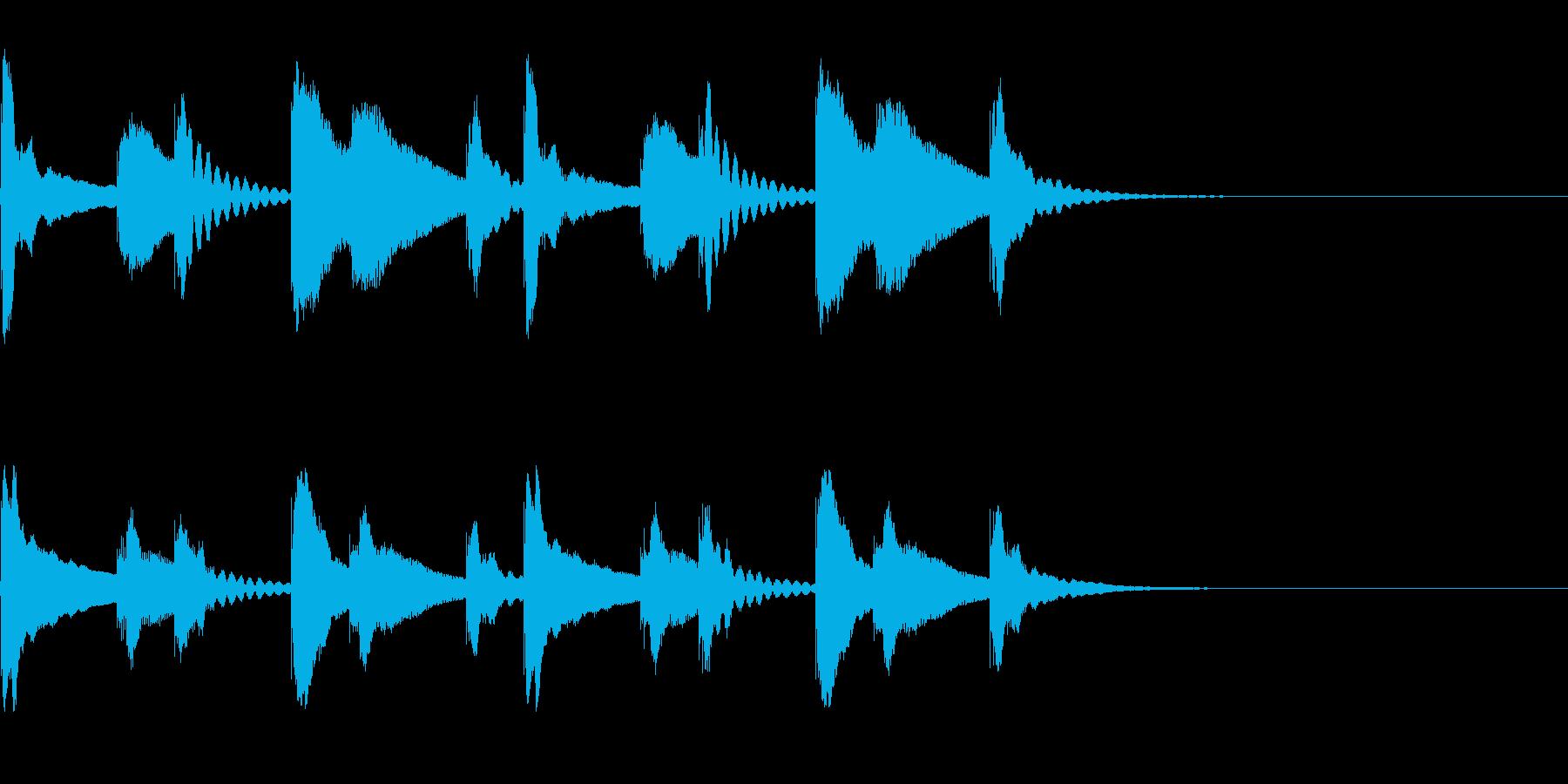 シロフォン(木琴)の迷うようなジングルの再生済みの波形