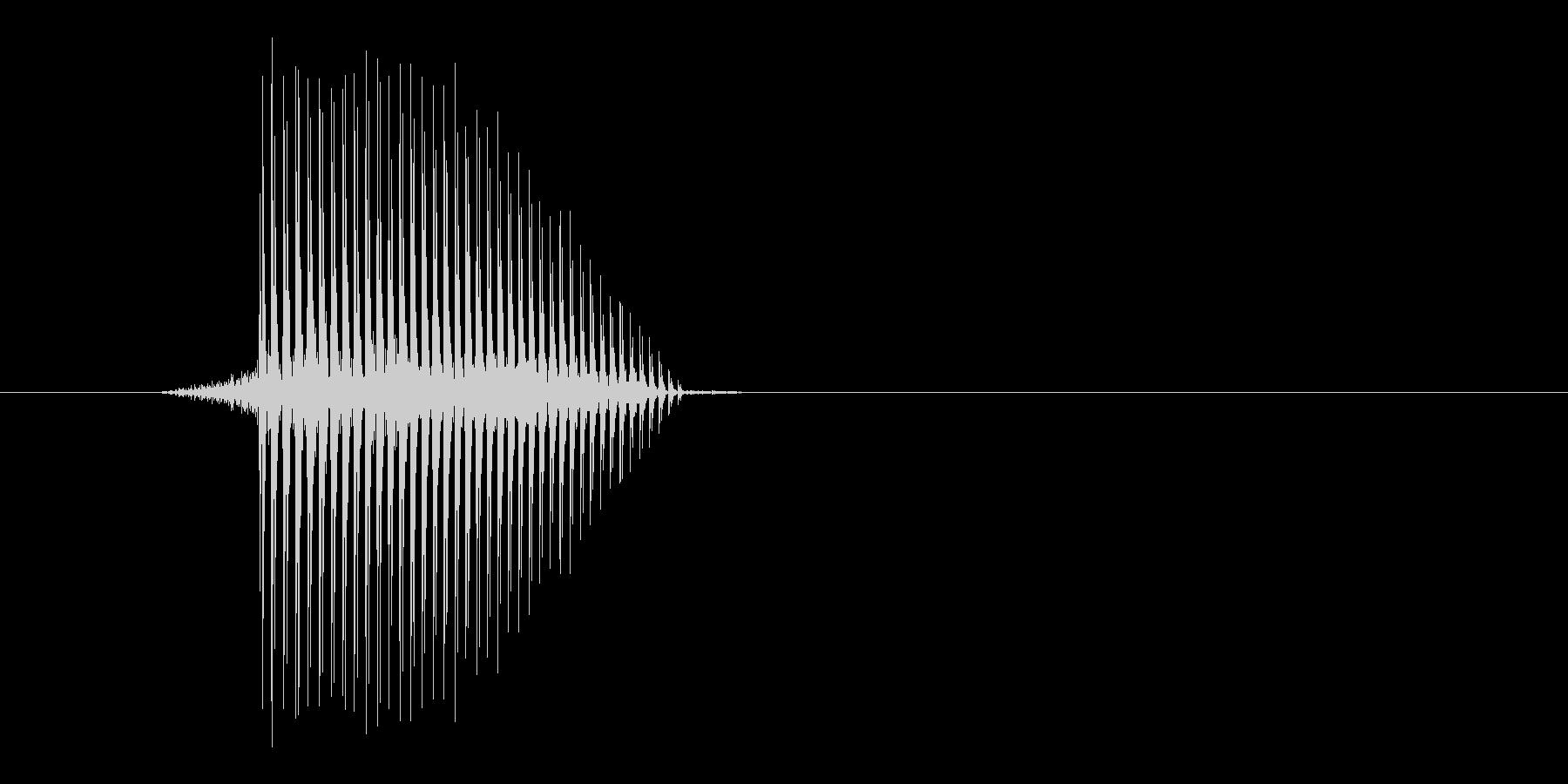 ゲーム(ファミコン風)ジャンプ音_022の未再生の波形