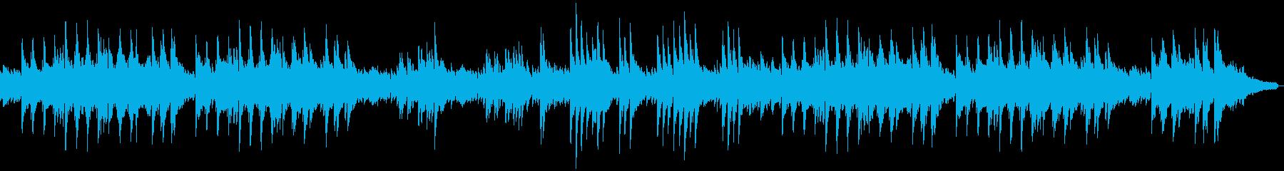 穏やかなソロピアノの再生済みの波形