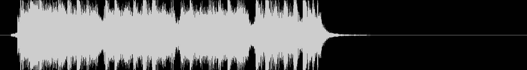 ロックサウンドのジングルです。の未再生の波形