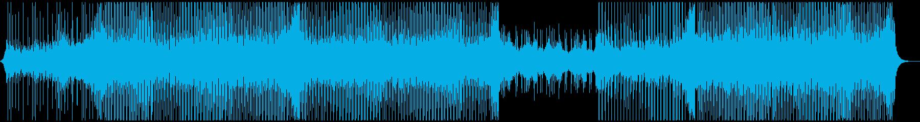 旅行音楽の再生済みの波形