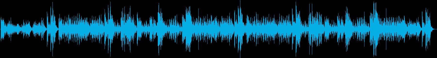 オルゴールの感動シーンの楽曲 劇伴の再生済みの波形