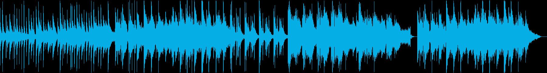 映像的で壮大、感動的なピアノストリングスの再生済みの波形