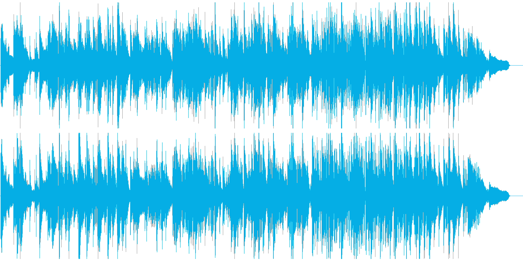 滑らかで暖かいサックスのバラード・ジャズの再生済みの波形