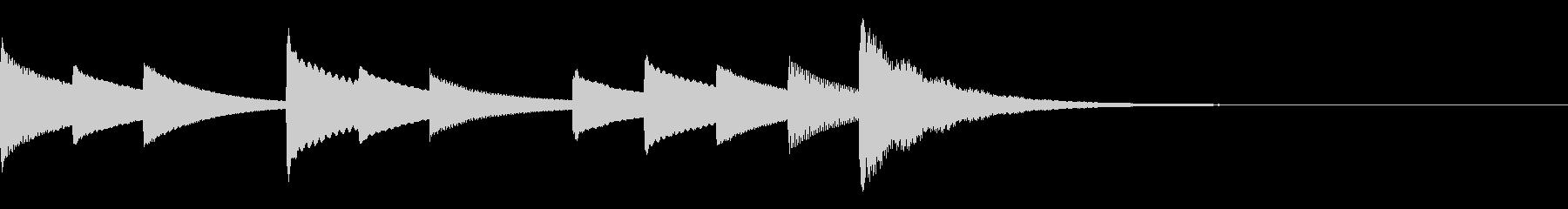 オルゴールの眠れそうなジングル の未再生の波形