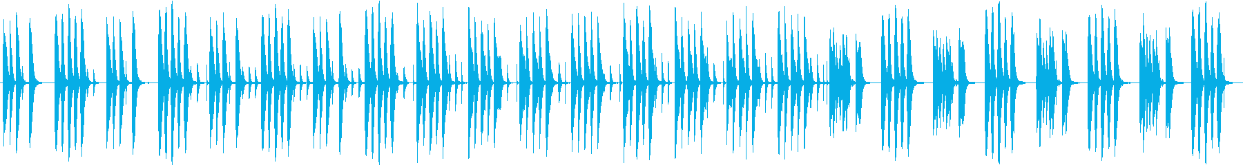ほのぼのした短めのジングルの再生済みの波形