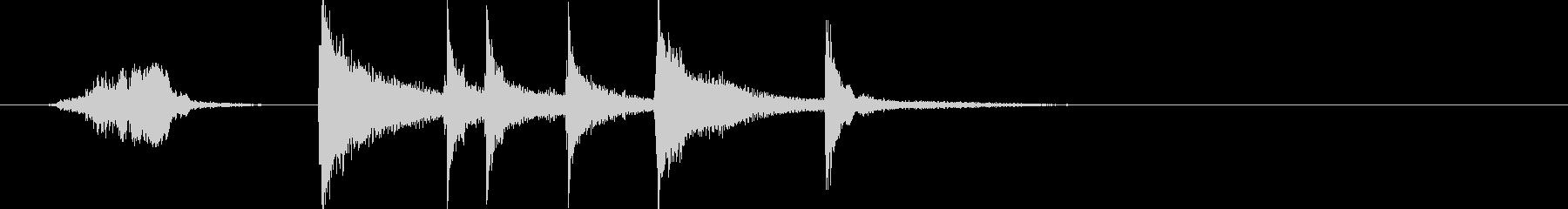 三味線ジングル 其の八 鼓じめの未再生の波形