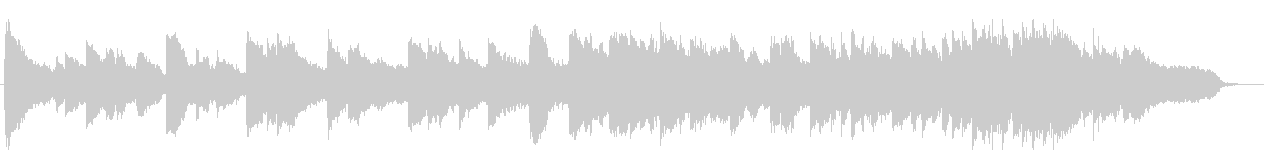 ピアノとバイオリンの感動BGMの未再生の波形