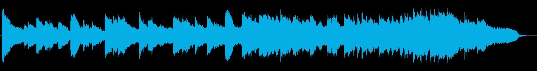 ピアノとバイオリンの感動BGMの再生済みの波形