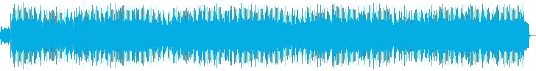 明るい80年代シンセポップ風BGMの再生済みの波形