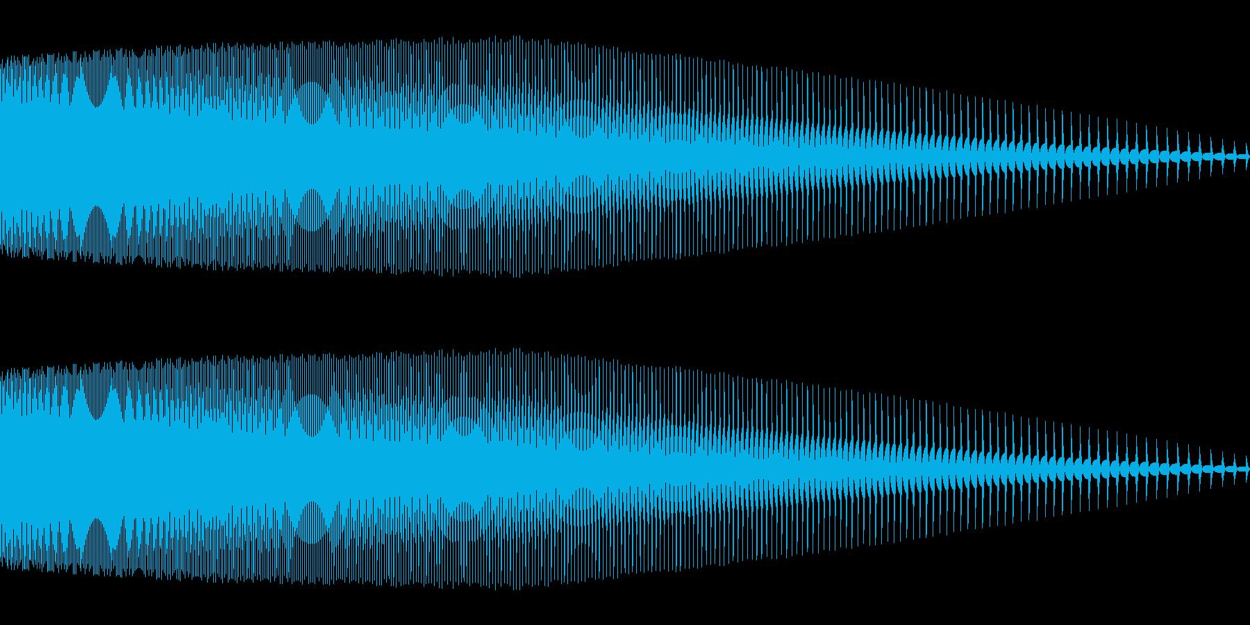 ピューン(かわいい/ピコピコ音/ジャンプの再生済みの波形
