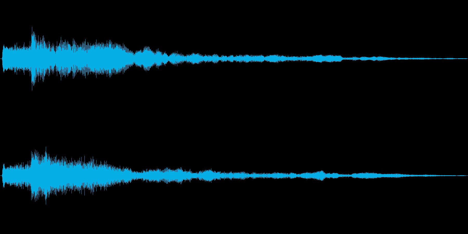 ゲームや場面転換などに透明感の有る効果音の再生済みの波形