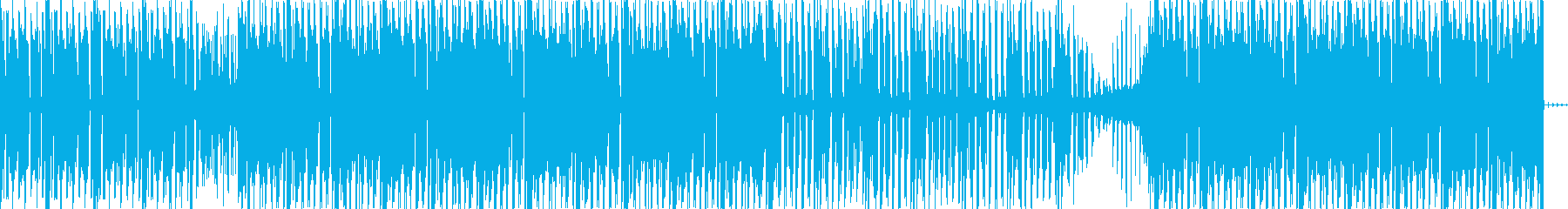 定番のミニマル・テクノの再生済みの波形