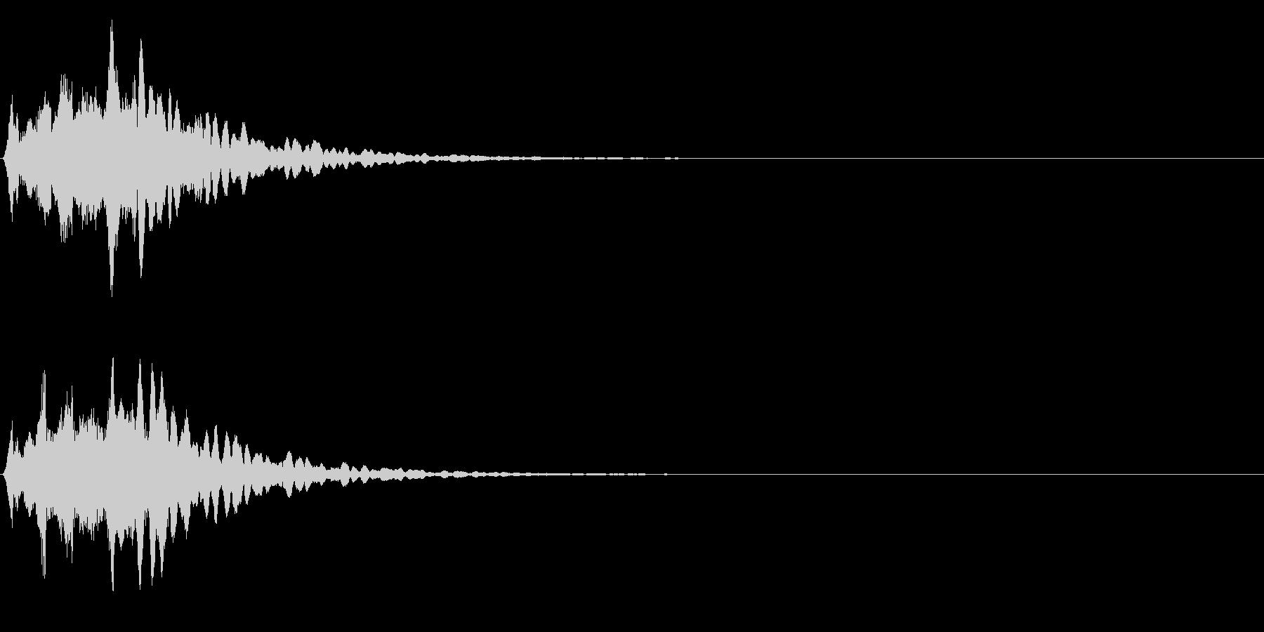 ゲームスタート、決定、ボタン音-010の未再生の波形