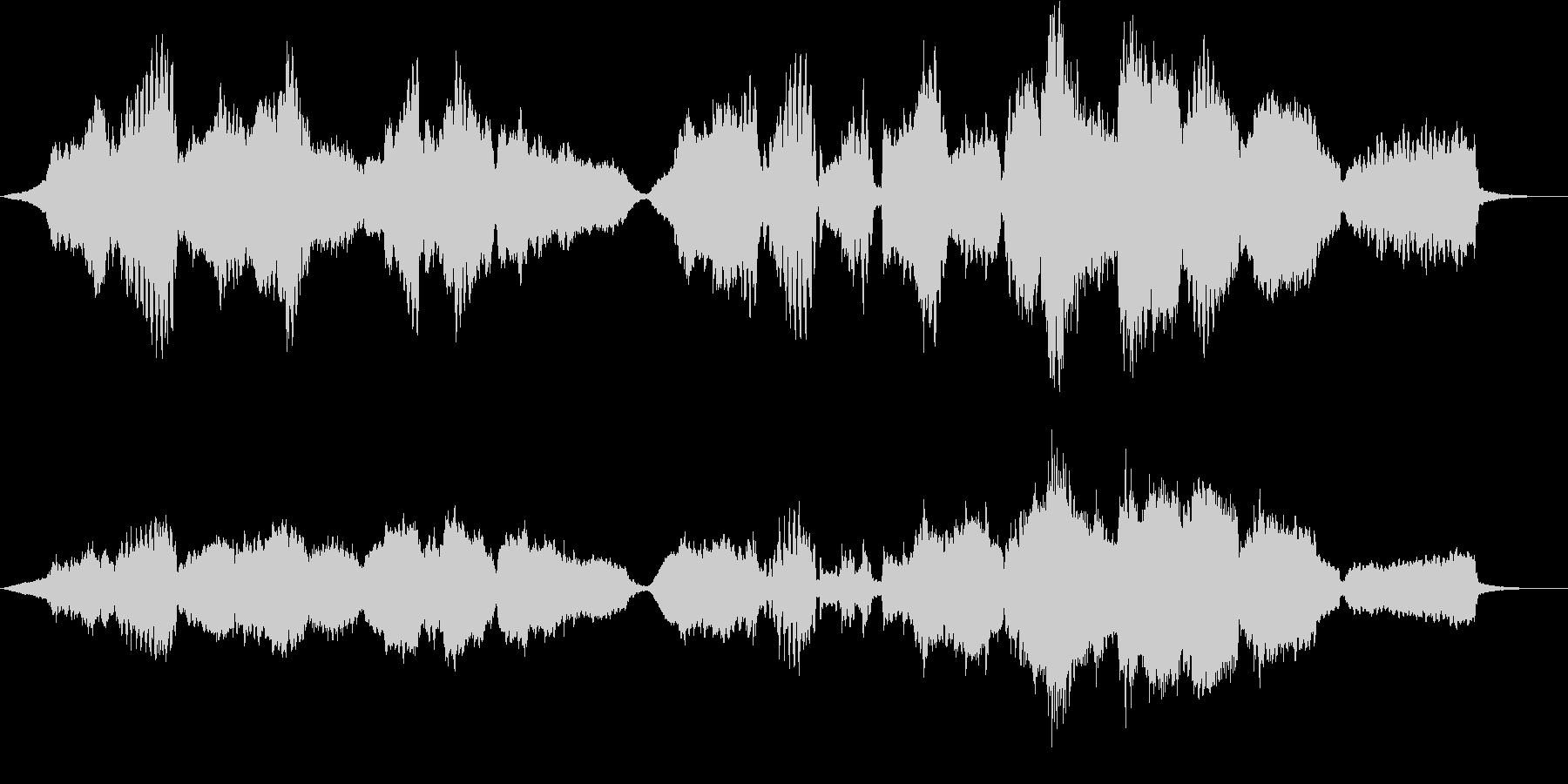悲壮感と希望の木管四重奏・ソロフルートの未再生の波形