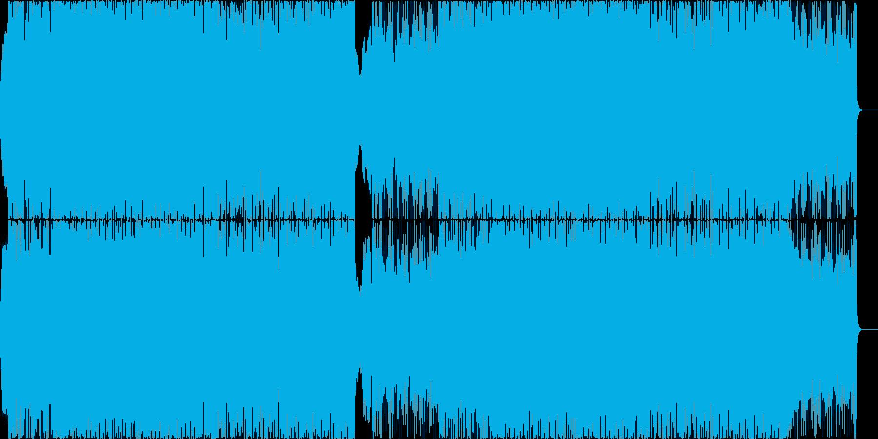 アグレッシブでダンサブルなエレクトロの再生済みの波形