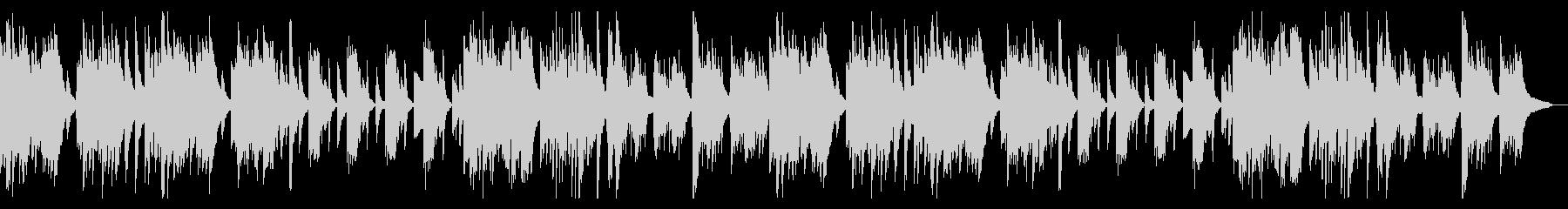 怪しげで切ないピアノ曲の未再生の波形
