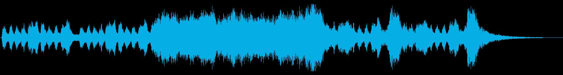 式典向き豪華なオーケストラファンファーレの再生済みの波形