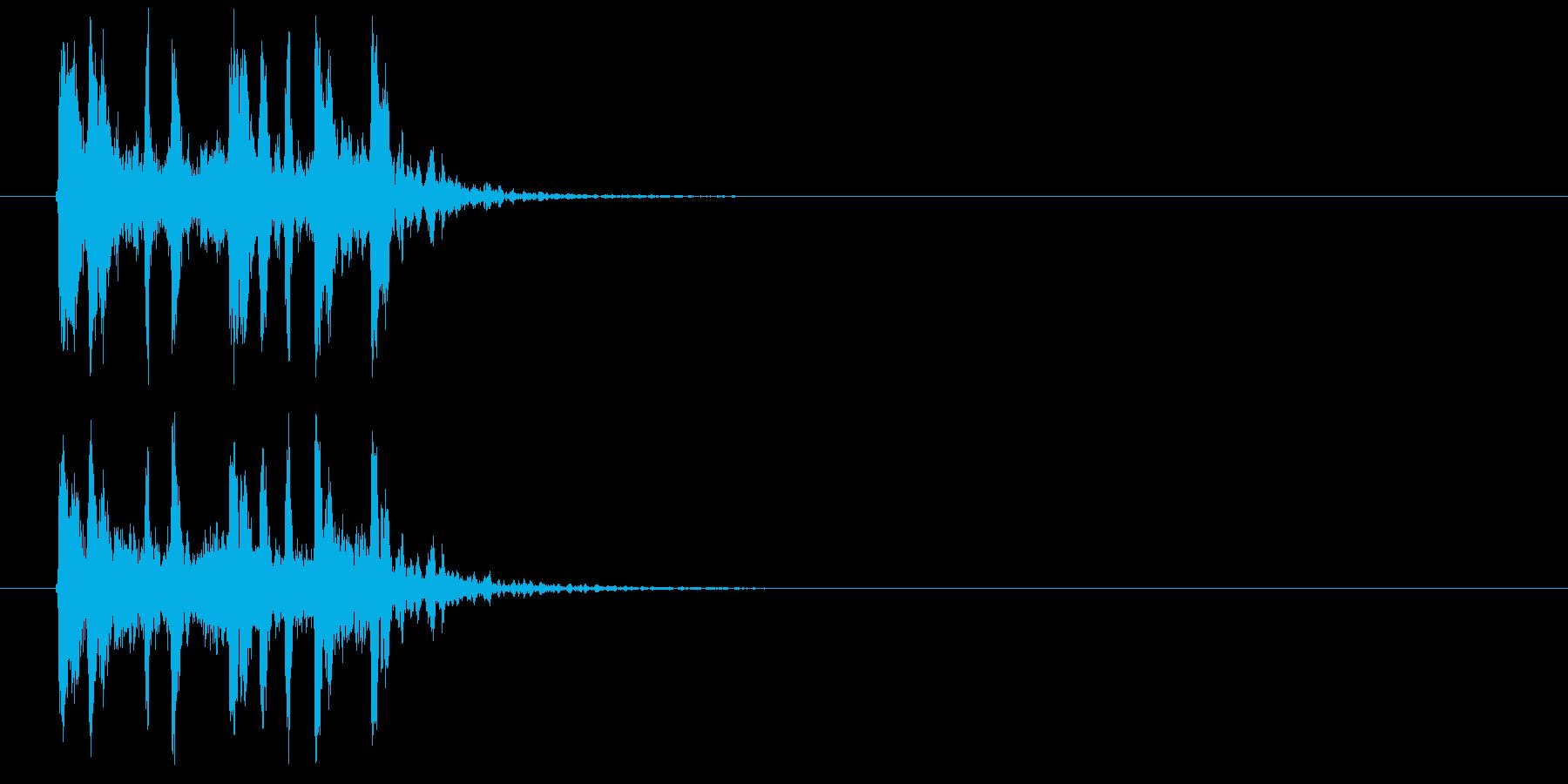 疾走感のあるテクノ音楽の再生済みの波形