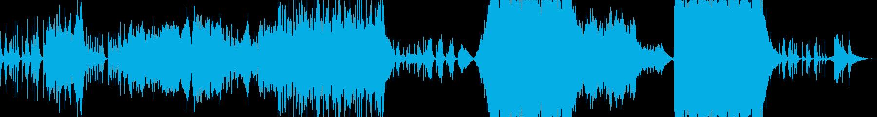 純朴で壮大なオーケストラ曲の再生済みの波形