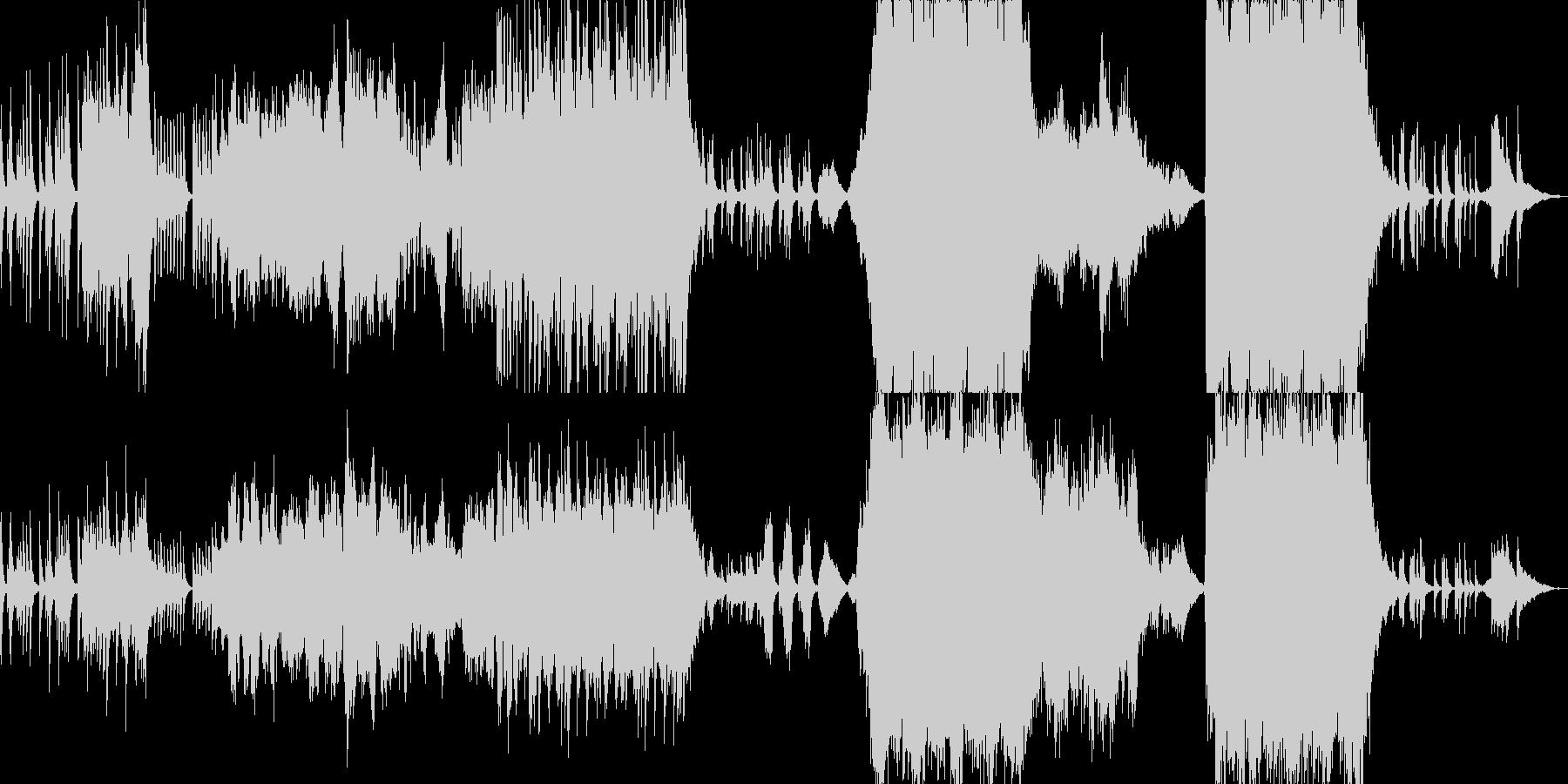 純朴で壮大なオーケストラ曲の未再生の波形
