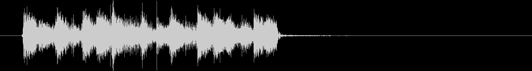 ギターとスラップベースのディスコの未再生の波形