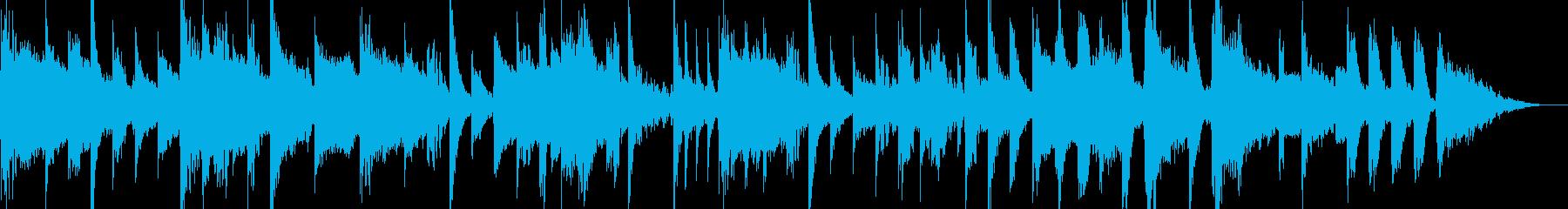 コロコロとしたエレクトロ調15秒ジングルの再生済みの波形